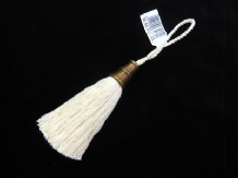 Natural cotton key tassel with bronze metal trim - Racheal tassell